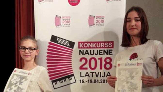 "Starptautiskais akordeonistu solistu konkurss ""Naujene 2018"""