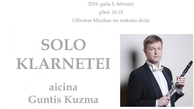 SOLO KLARNETEI aicina Guntis Kuzma