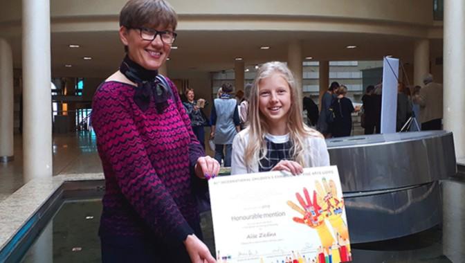 """47. Starptautiskās bērnu mākslas izstādes – konkursa """"Lidice 2019""""  laureāte"""