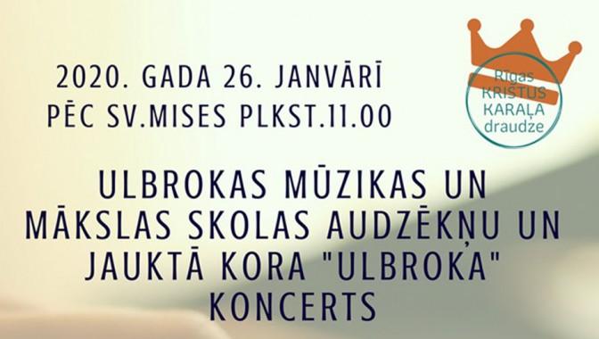 Koncerts Rīgas Kristus Karaļa draudzē