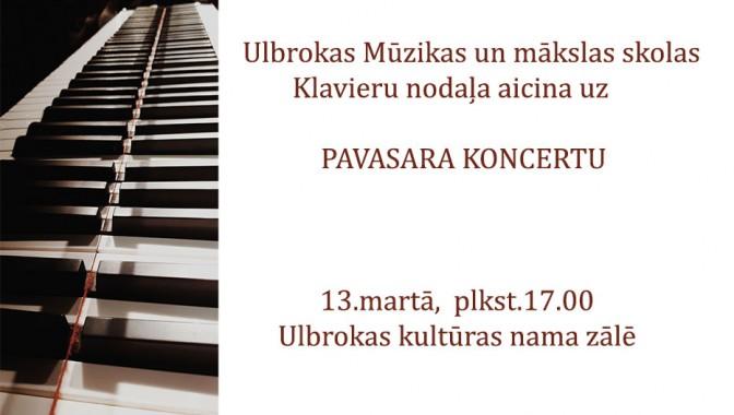 """Klavieru nodaļas """"Pavasara koncerts"""""""
