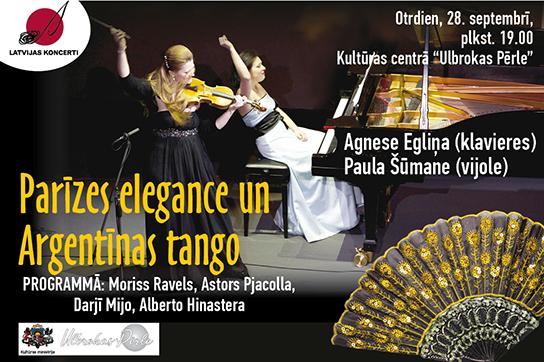 """Koncerts """"Parīzes elegance un Argentīnas tango"""""""
